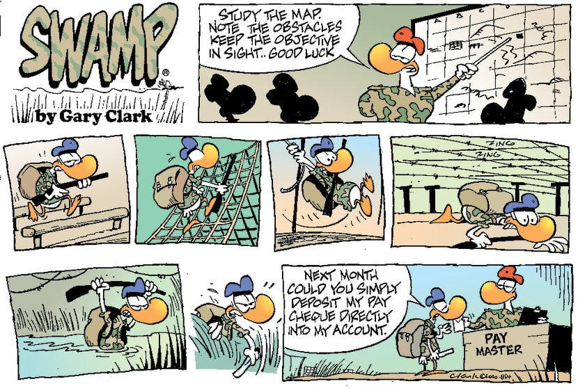 Swamp Cartoon - Obstacle CourseJanuary 30, 2000