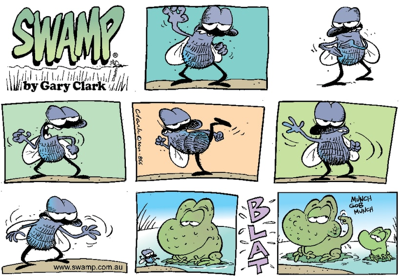 Swamp Cartoon - Martial Art FlyFebruary 13, 2000