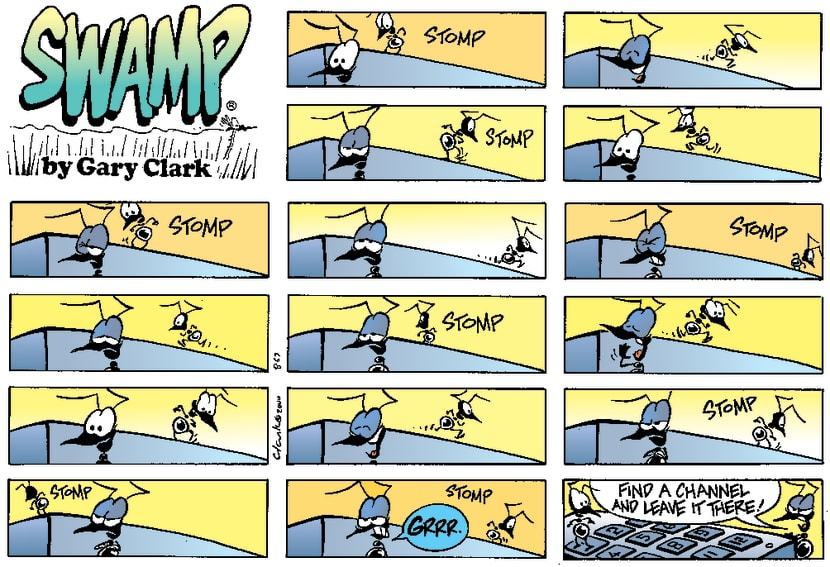 Swamp Cartoon - Ant StompingFebruary 20, 2000