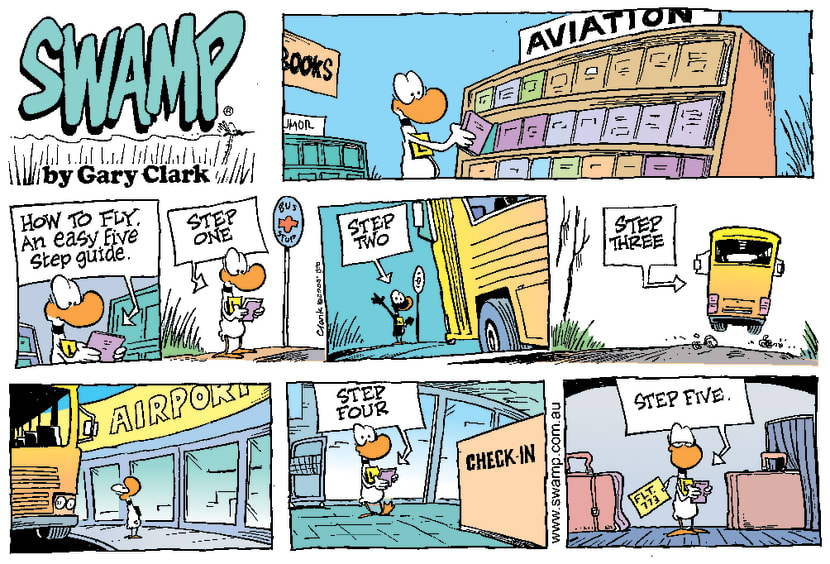 Swamp Cartoon - Guide to FlyingMarch 12, 2000