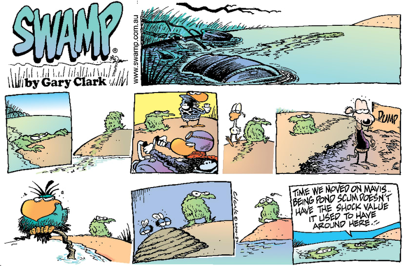 Swamp Cartoon - Scary Swamp CreaturesMarch 19, 2000