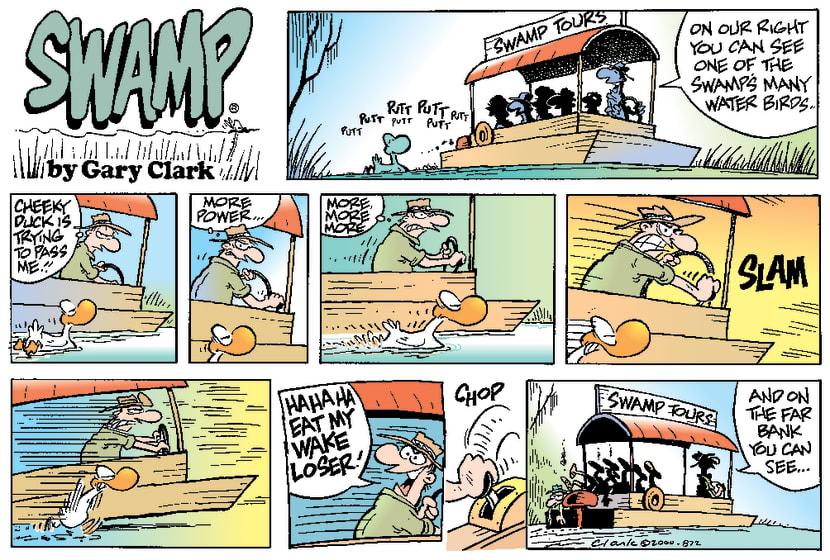 Swamp Cartoon - River RaceMarch 26, 2000