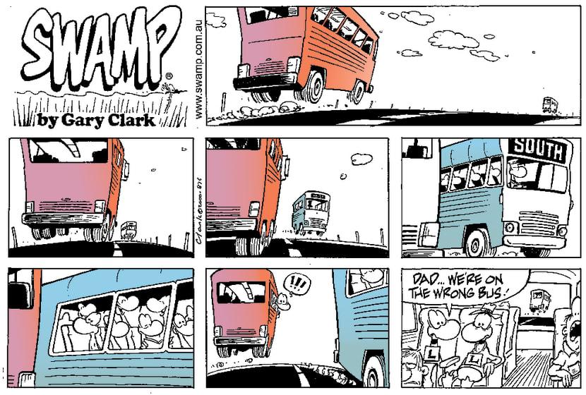 Swamp Cartoon - OopsApril 23, 2000