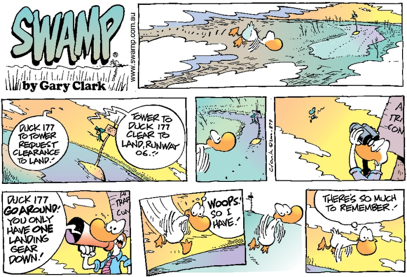 Swamp Cartoon - Landing Gear Not Down ComicMay 14, 2000