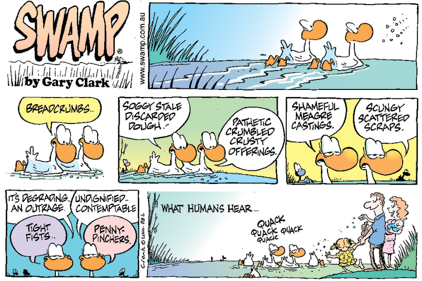 Swamp Cartoon - Duck TalkJune 4, 2000