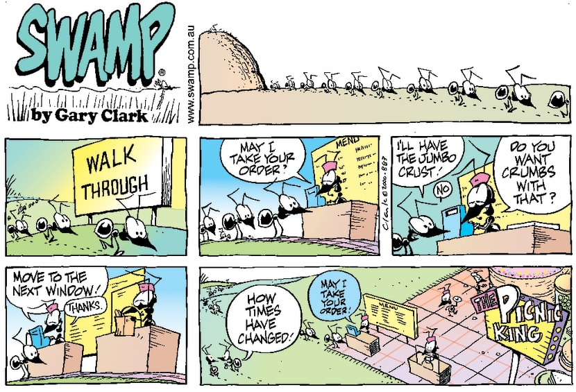 Swamp Cartoon - Changing TimesJune 11, 2000