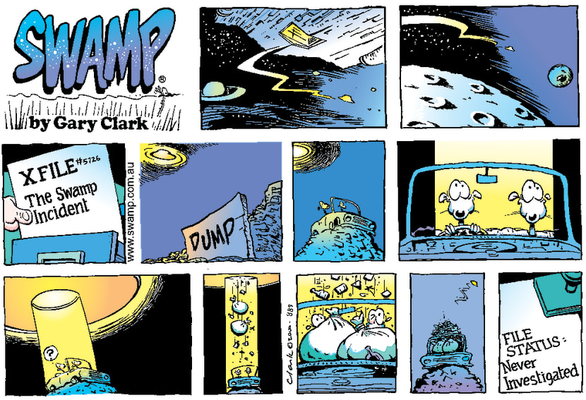 Swamp Cartoon - X FileJuly 23, 2000