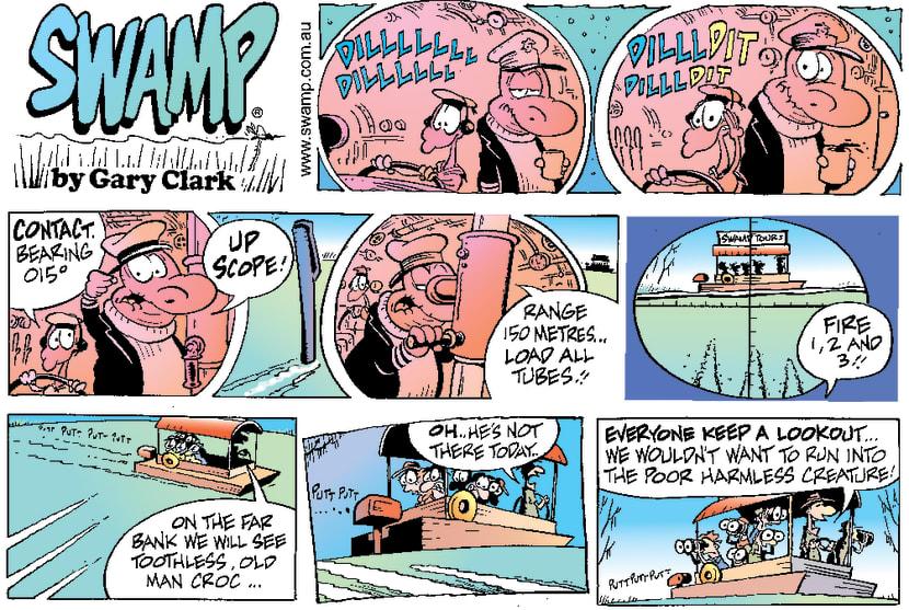 Swamp Cartoon - Captain CrocJuly 30, 2000