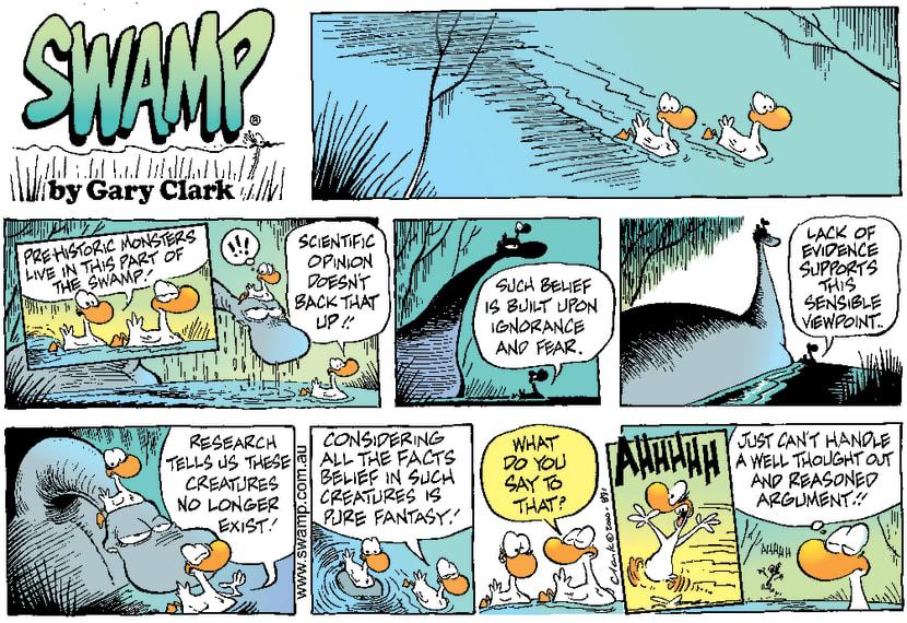 Swamp Cartoon - Prehistoric CreaturesAugust 6, 2000