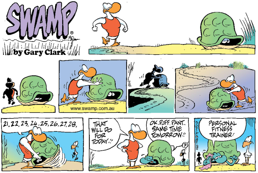 Swamp Cartoon - WorkoutAugust 27, 2000