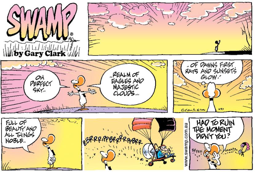 Swamp Cartoon - Beautiful MomentSeptember 17, 2000