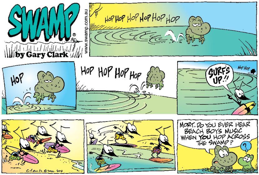 Swamp Cartoon - Making WavesNovember 5, 2000
