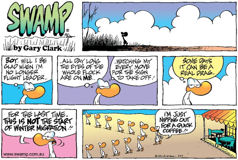 Swamp Cartoon - Leader Of The PackNovember 19, 2000