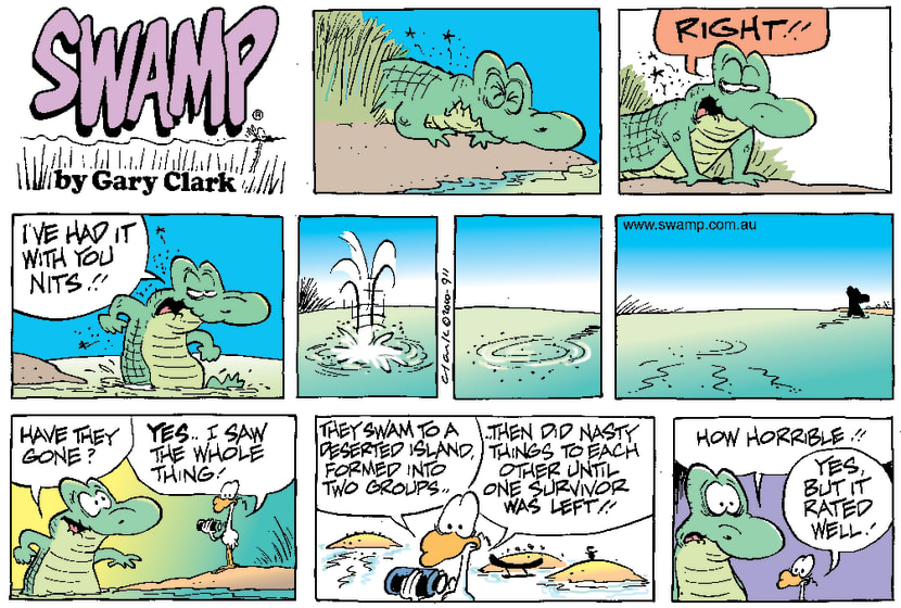 Swamp Cartoon - Nit SurvivalDecember 24, 2000