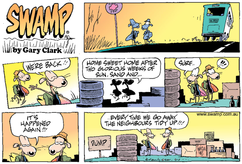 Swamp Cartoon - Coming HomeJanuary 21, 2001