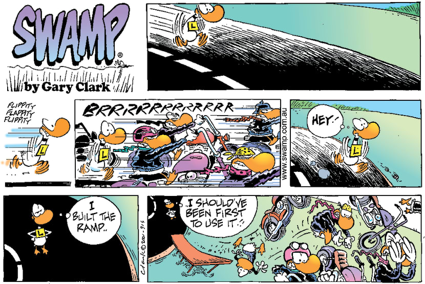 Swamp Cartoon - Ding Duck Take-off Ramp ComicJanuary 28, 2001