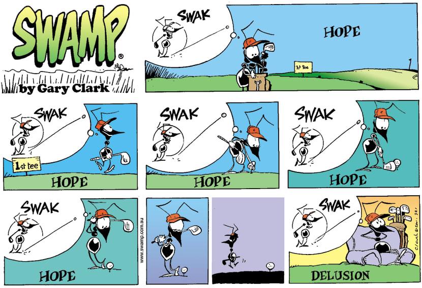 Swamp Cartoon - Golf HopeMarch 4, 2001