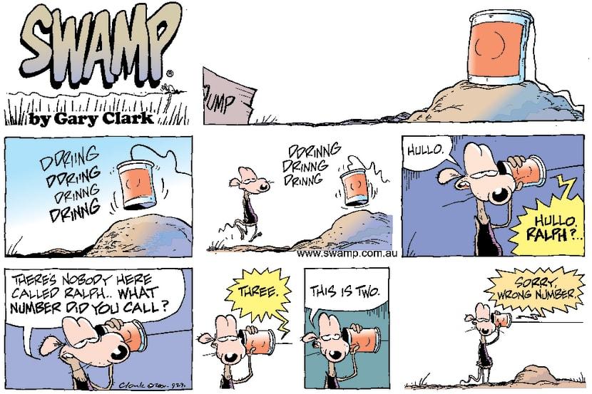 Swamp Cartoon - RedialApril 22, 2001
