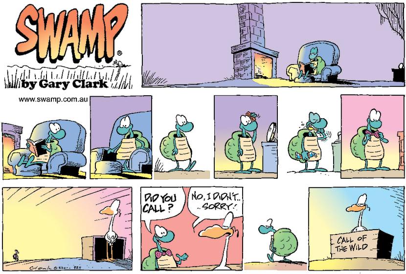 Swamp Cartoon - Lonley LoveApril 29, 2001