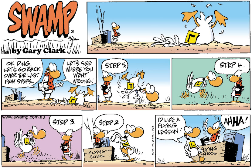 Swamp Cartoon - Lesson CheckMay 20, 2001
