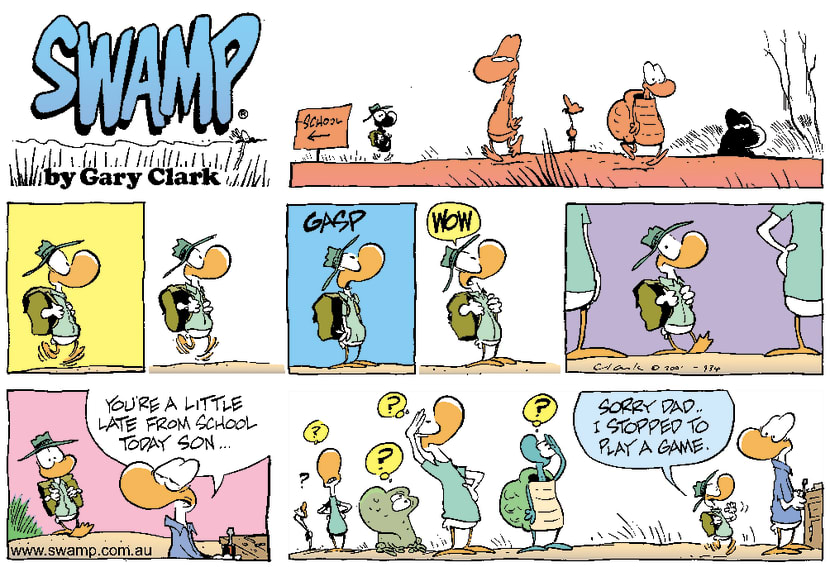 Swamp Cartoon - SchoolJune 3, 2001