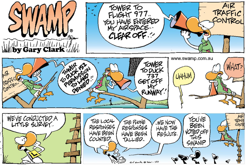 Swamp Cartoon - Air Traffic Controller Gone Too FarJune 10, 2001