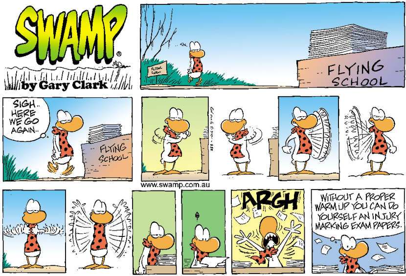 Swamp Cartoon - Exam Warm UpJuly 1, 2001