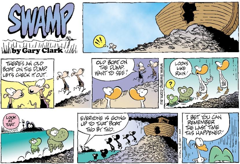 Swamp Cartoon - Dump BoatJuly 15, 2001