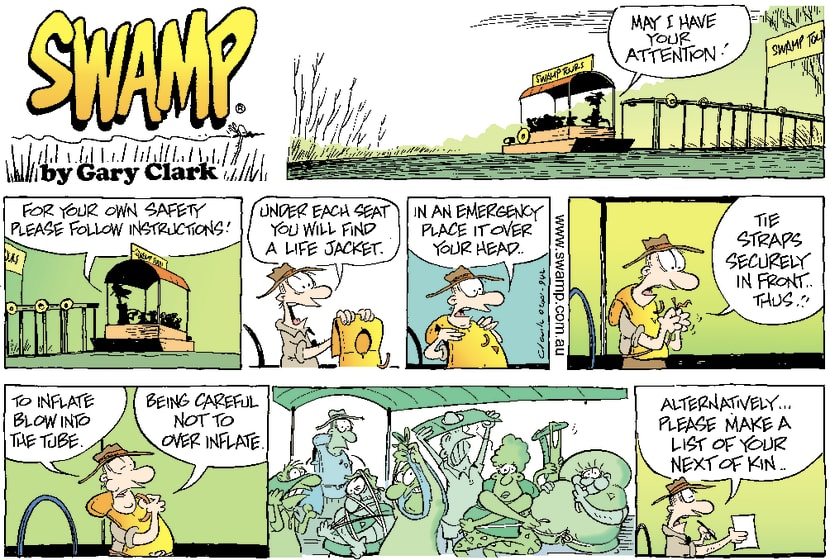 Swamp Cartoon - Tour Safety 1July 29, 2001