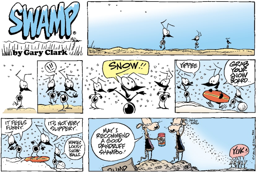Swamp Cartoon - Swamp Snow