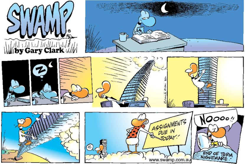 Swamp Cartoon - Study SnoozeSeptember 23, 2001
