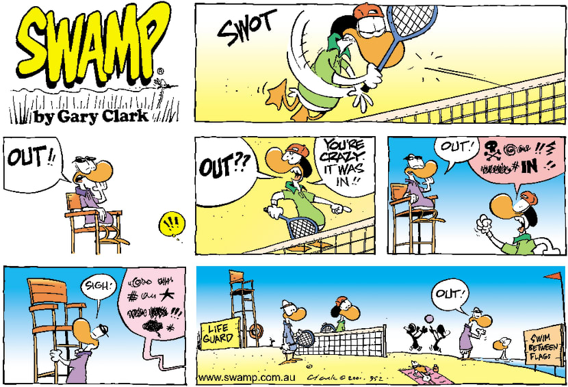 Swamp Cartoon - Tennis GuardOctober 7, 2001