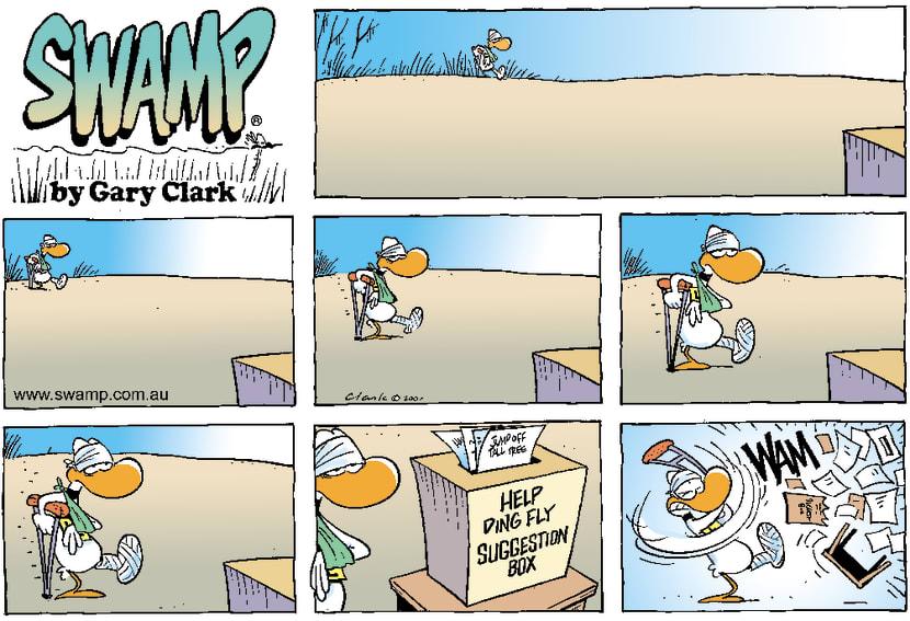 Swamp Cartoon - Ding In PainOctober 14, 2001