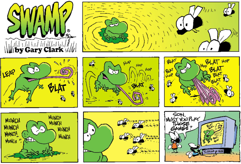 Swamp Cartoon - Fly EaterOctober 21, 2001