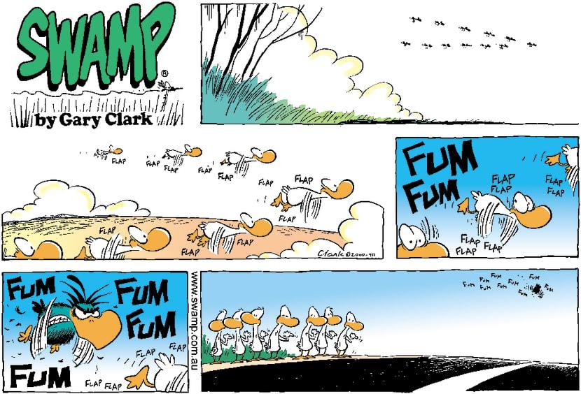 Swamp Cartoon - Flying SouthNovember 11, 2001