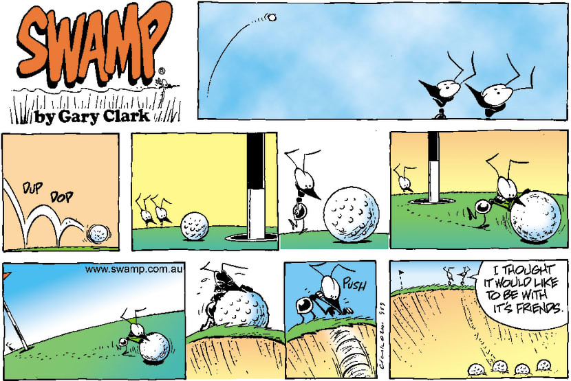 Swamp Cartoon - Golf Ball FriendshipNovember 25, 2001
