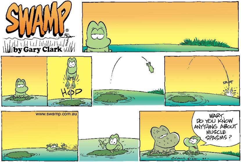 Swamp Cartoon - Frog LeapDecember 9, 2001
