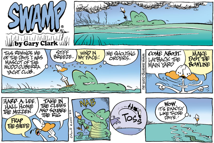 Swamp Cartoon - The Old DaysFebruary 24, 2002