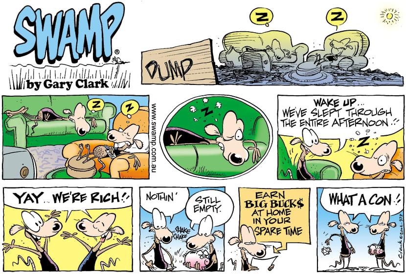 Swamp Cartoon - Quick RichMarch 3, 2002