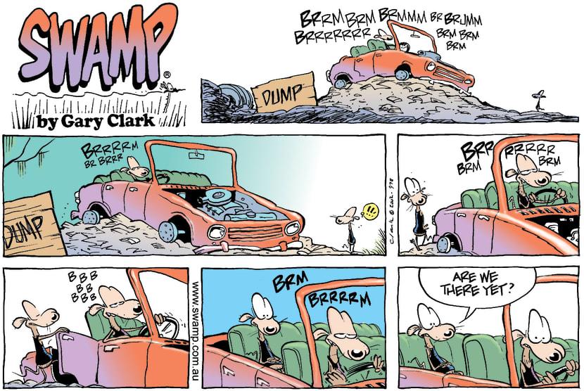 Swamp Cartoon - Road TripApril 7, 2002