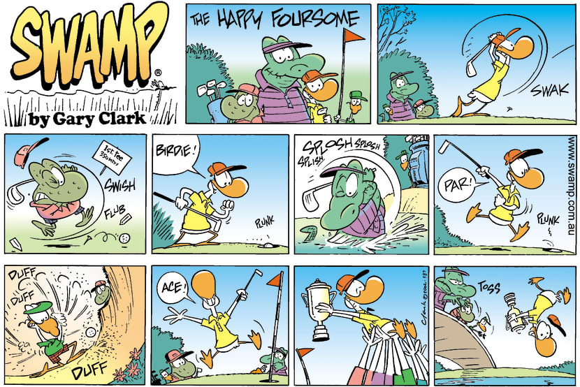 Swamp Cartoon - Old Man Croc Golf ComicJune 9, 2002