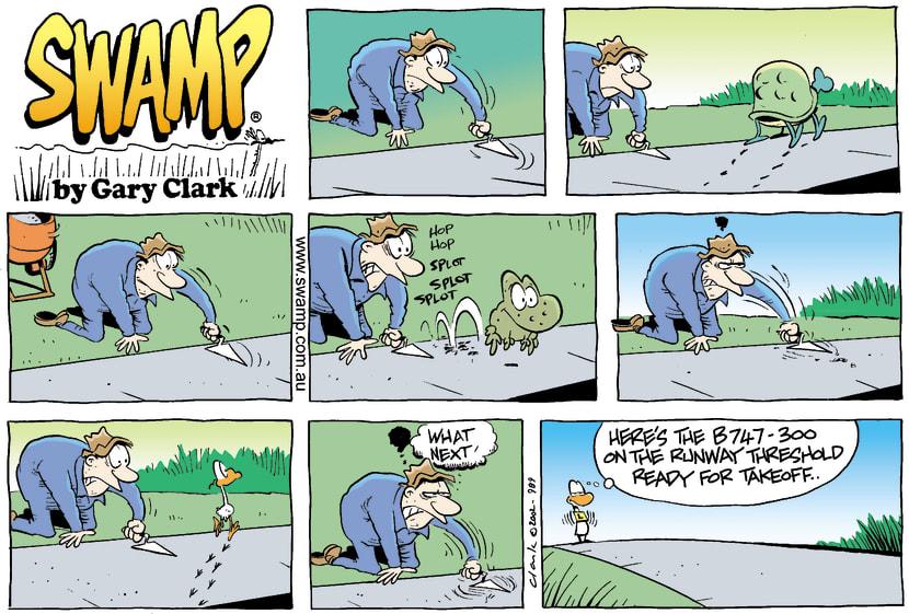 Swamp Cartoon - Ding Duck Runway ComicJune 23, 2002