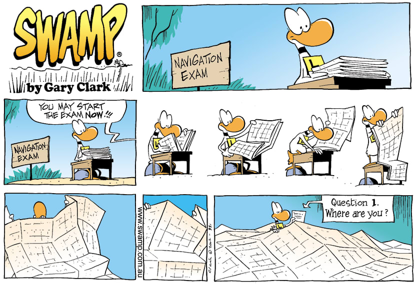 Swamp Cartoon - Ding Duck Map ComicJuly 7, 2002