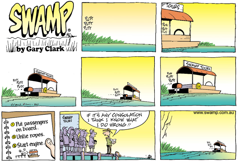 Swamp Cartoon - Early Morning Tour Boat RideJuly 21, 2002