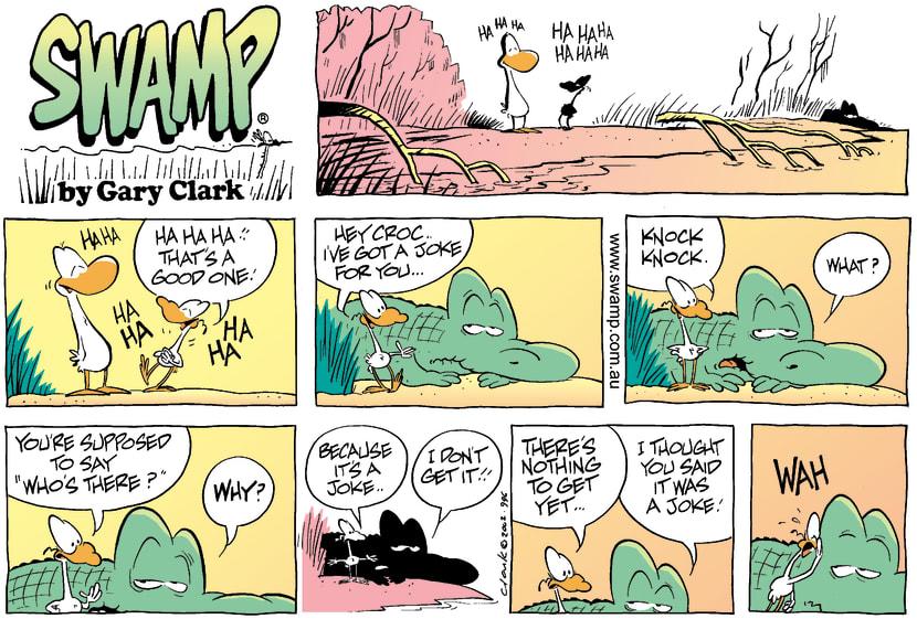 Swamp Cartoon - Nitpicker Knock KnockAugust 11, 2002