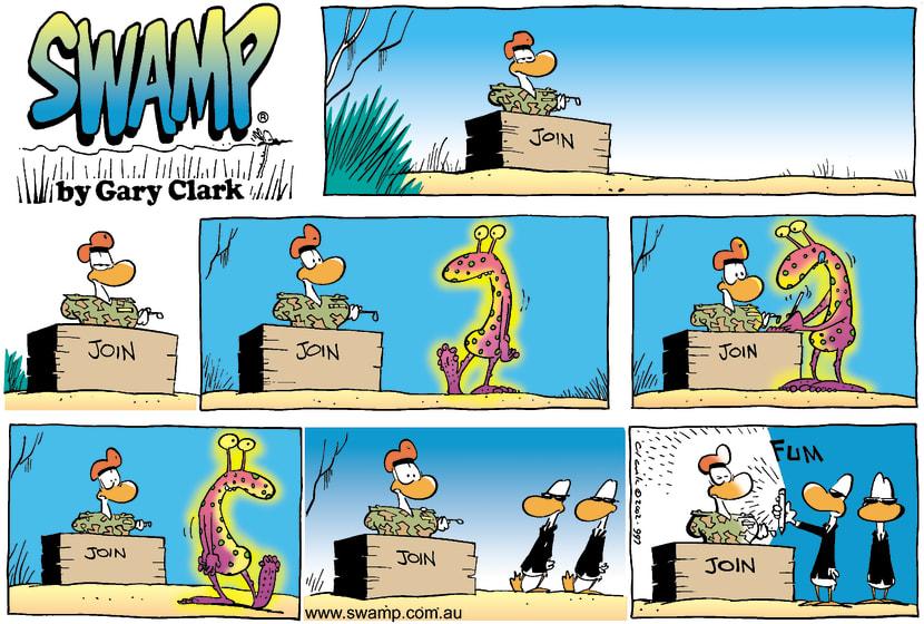 Swamp Cartoon - AlienAugust 18, 2002