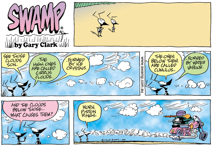 Swamp Cartoon - Swamp Ants Observing CloudsAugust 25, 2002