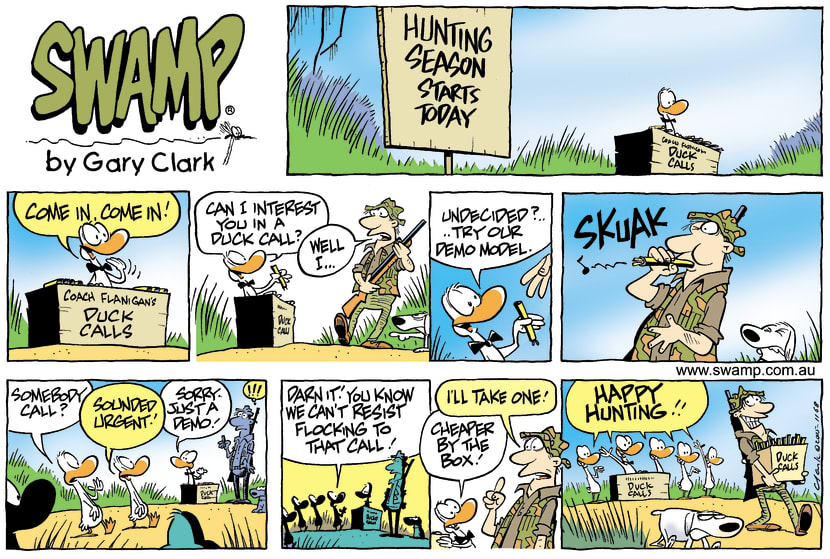 Swamp Cartoon - Coach Flanagan Duck CallsNovember 27, 2005