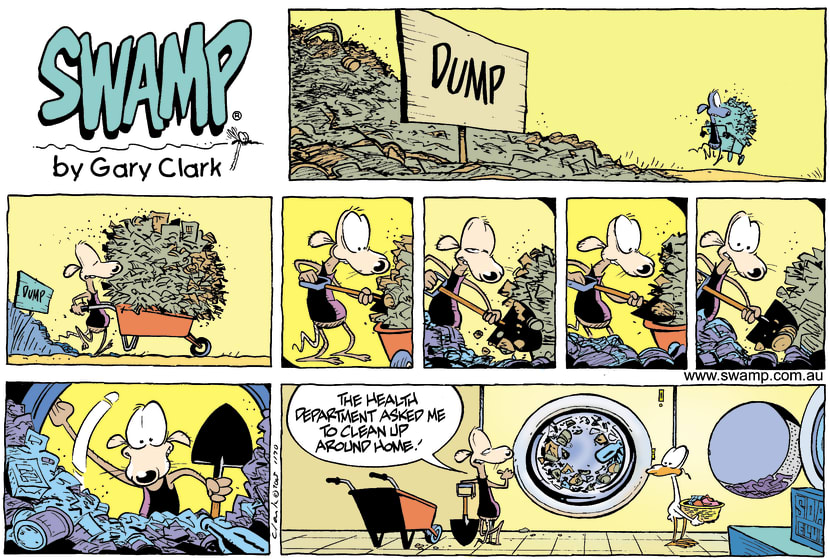 Swamp Cartoon - Chives Rat Washing DayDecember 11, 2005