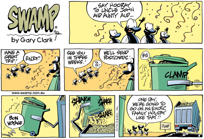 Swamp Cartoon - Garbage Aloha!May 23, 2010